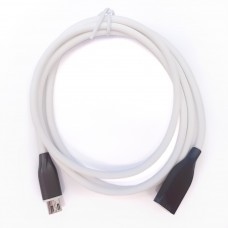 Кабель MicroUSB 1.0m Silicon White
